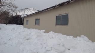 作業所の雪下ろし