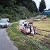 台風前に、18日目の稲刈