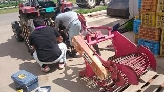 ジャガイモ掘りの準備