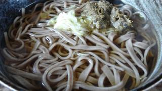 ふき味噌のお蕎麦