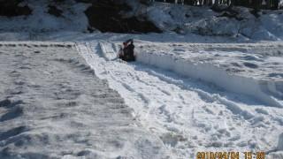 すいか畑の除雪