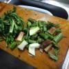 山ウドとサバの味噌煮