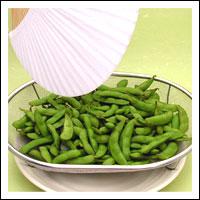 茹で上がった枝豆・茶豆は素早く冷ます