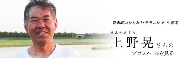 コシヒカリ生産者上野プロフィール画像